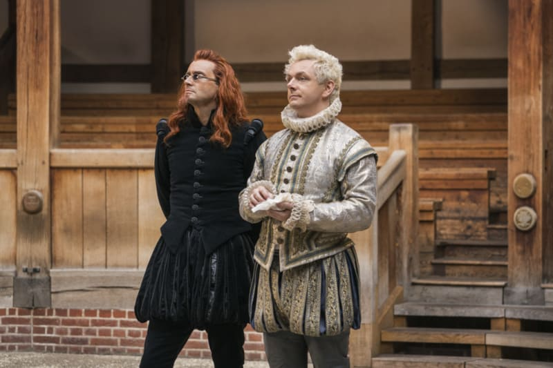 Aziraphale and Crowley at the Globe Theater
