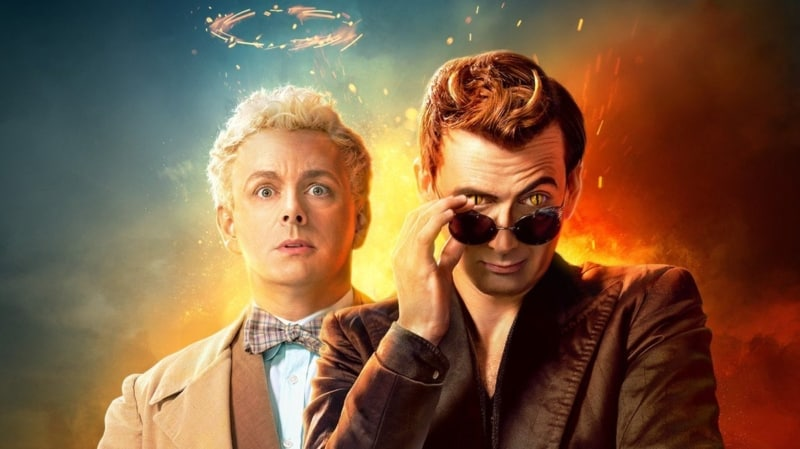Aziraphale and Crowley in the Amazon good omens