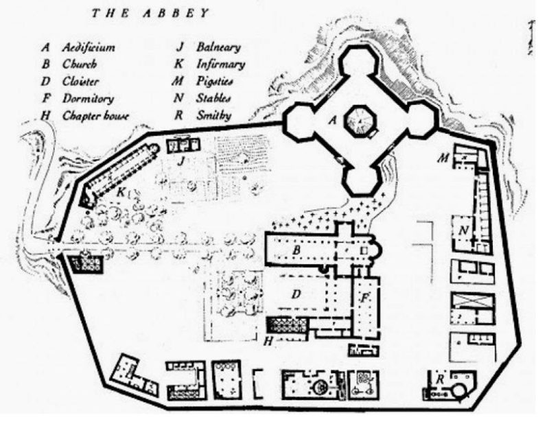 abbey from the name of the rose by umberto eco