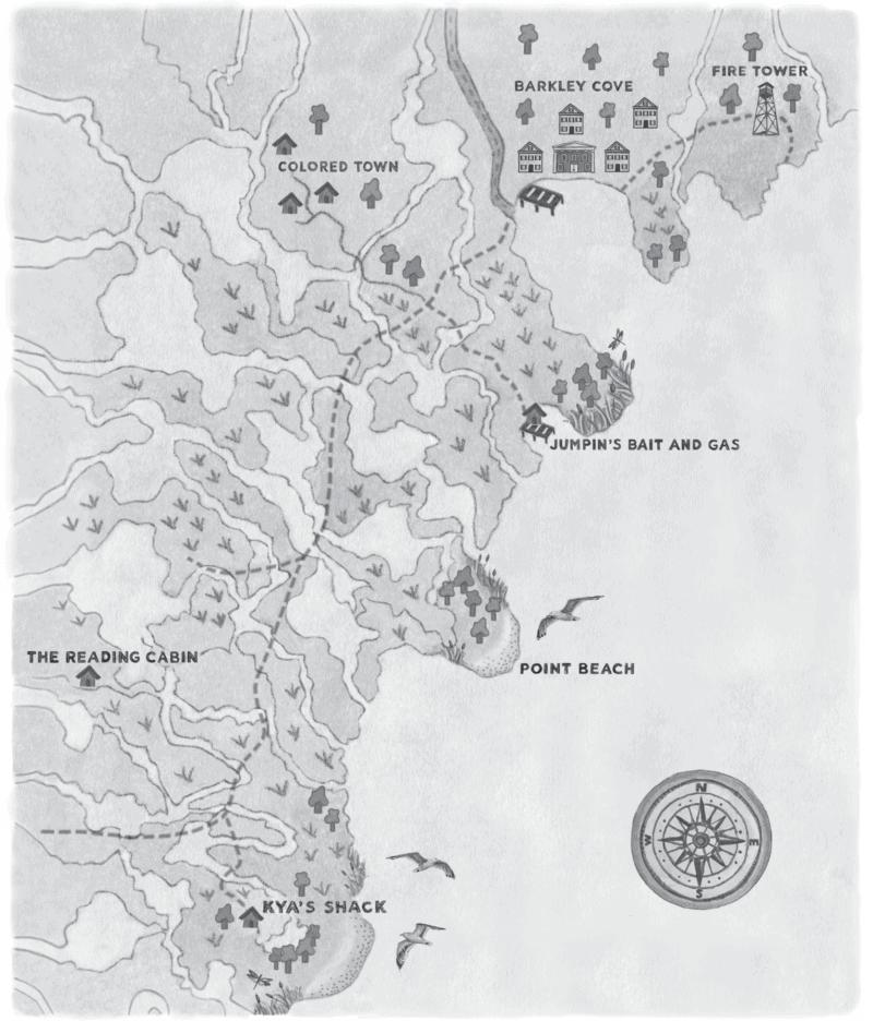 barkley cove north carolina map where the crawdads sing