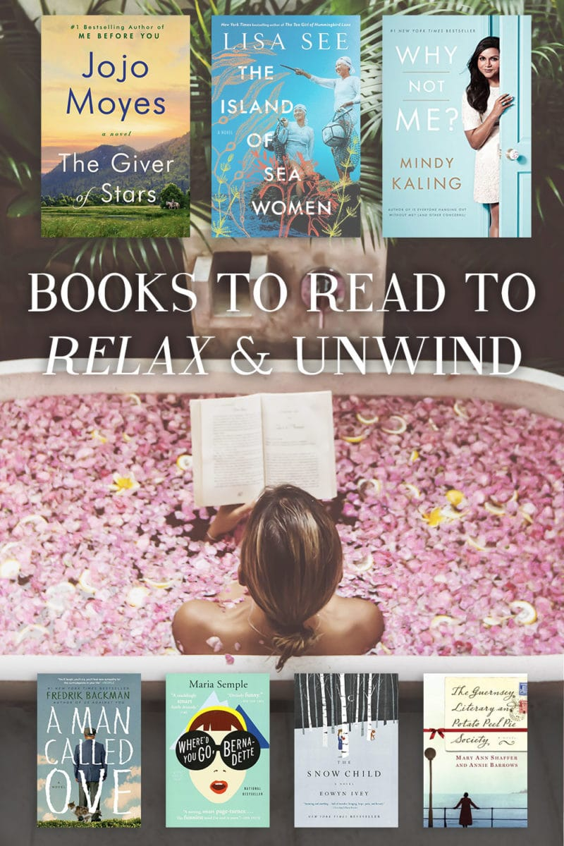 relaxing books to read to de-stress and unwind before bed book list novels