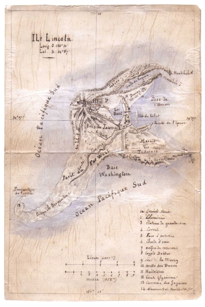 ile lincoln the mysterious island drawn by jules verne