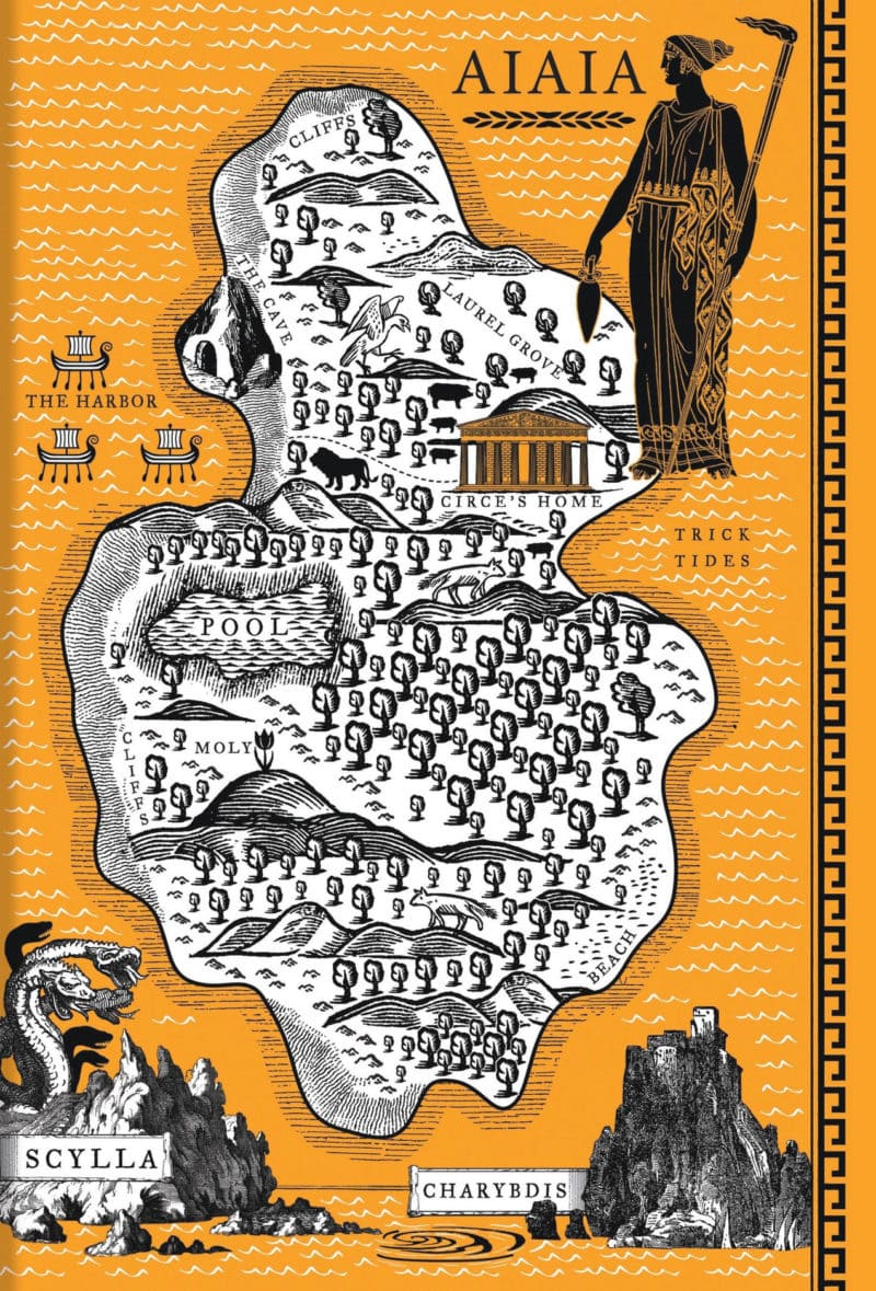 map of aiaia from circe by madeline miller