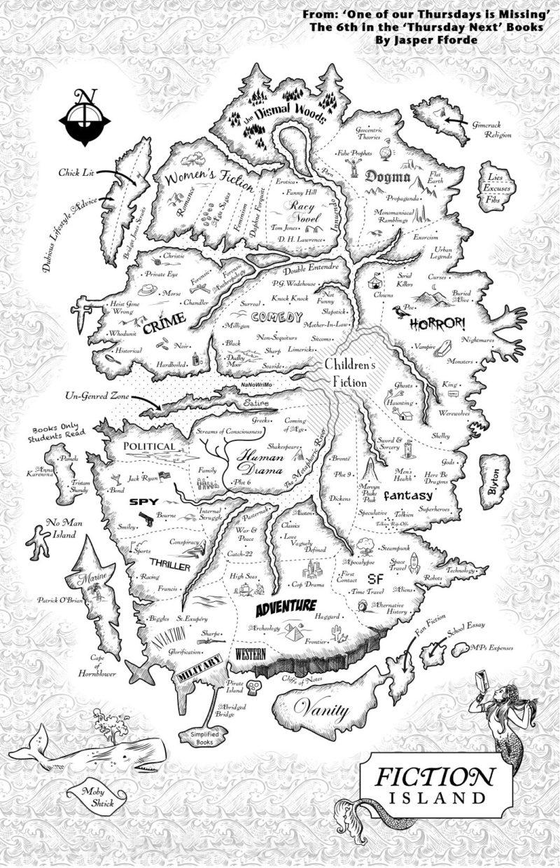 fiction island from jasper fforde's the thursday next series