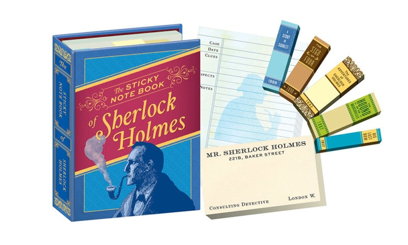 sherlock holmes sticky notes gifts for book lovers under 12 best literary gifts stocking stuffers holiday gift ideas gift guide