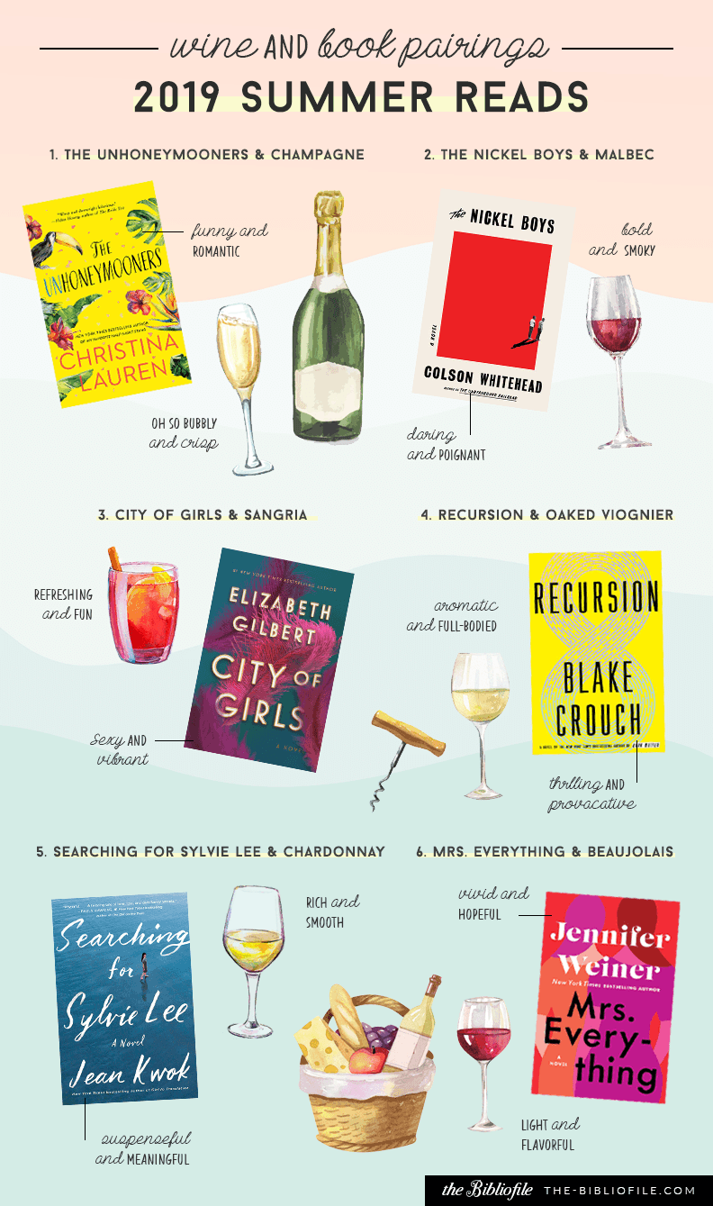 Wine and Books Beach Summer reads 2019