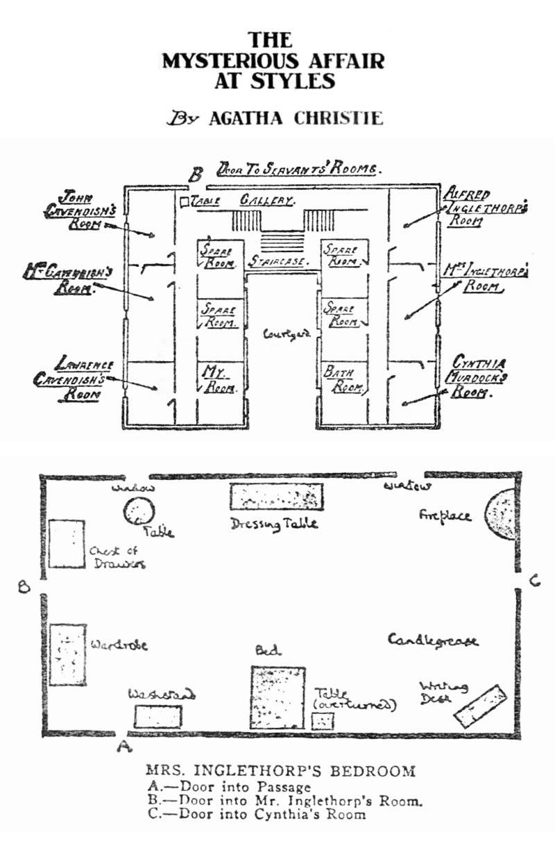 maps mysterious affair at styles agatha christie