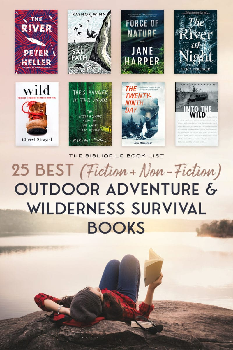 outdoor adventure books, wilderness survival books, fiction and non-fiction