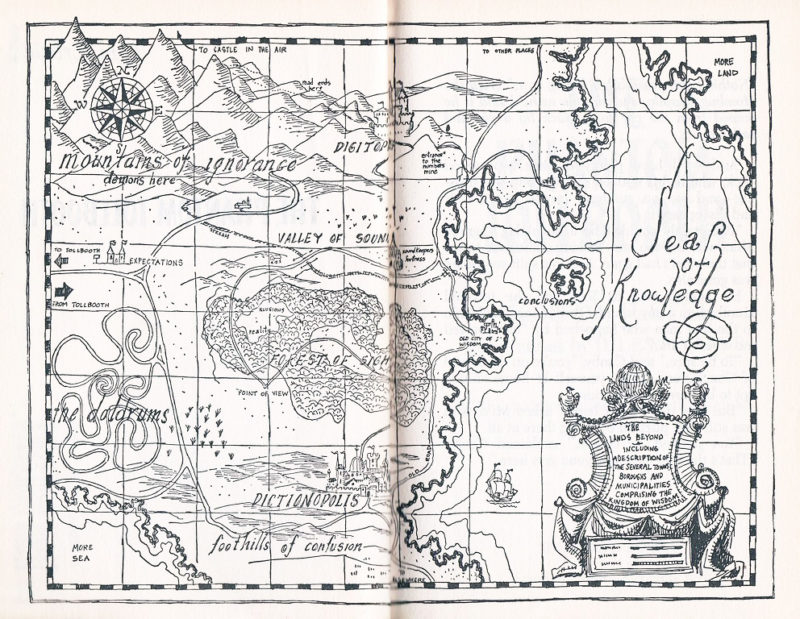 Map of The Lands Beyond from The Phantom Tollbooth