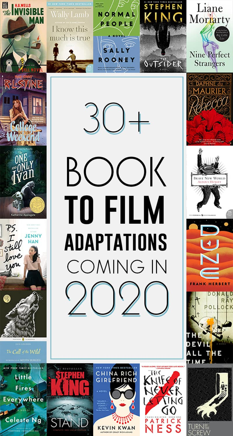 books to movies film tv adaptations 2020