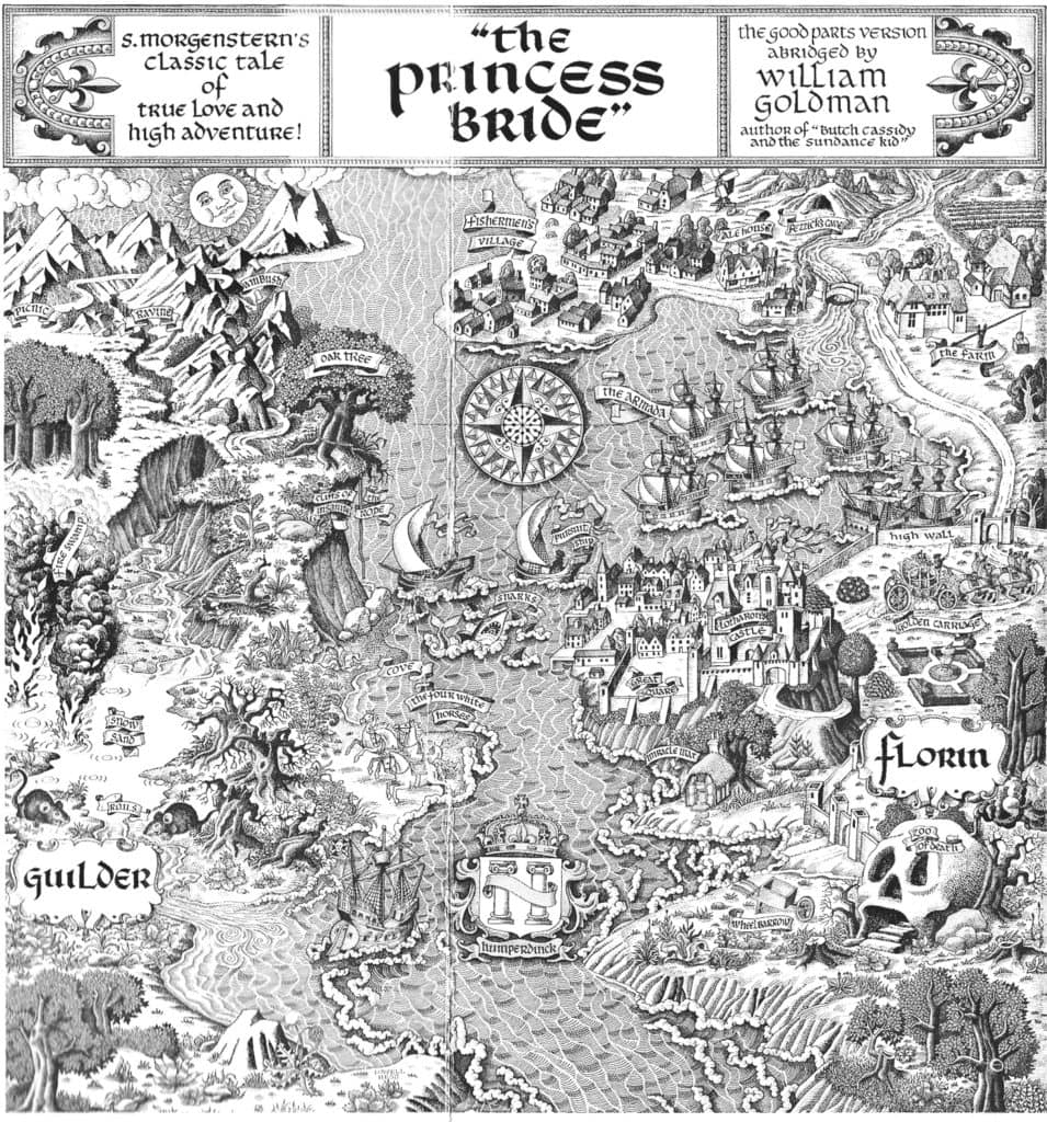 Map of Florin and Guilder from william goldman's the princess bride
