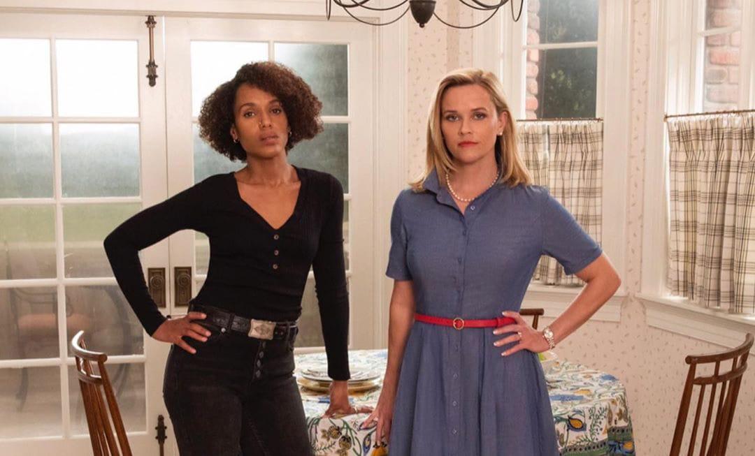 Reese Witherspoon as Elena Richardson and Kerry Washington as Mia Warren