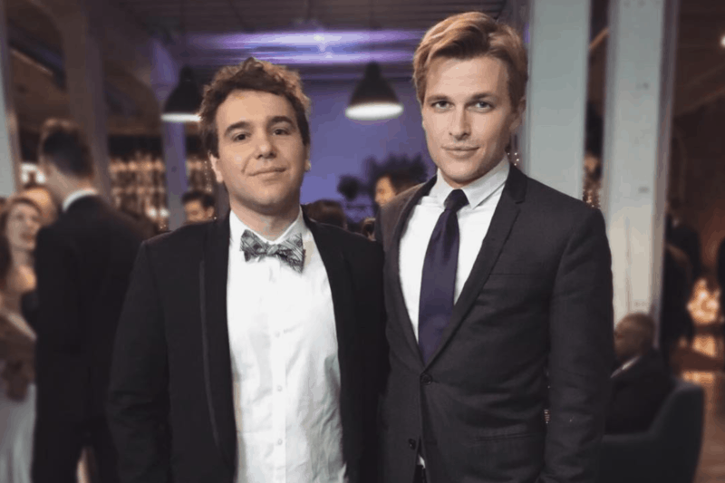 Author Ronan Farrow (right) and his partner Jonathan (left)