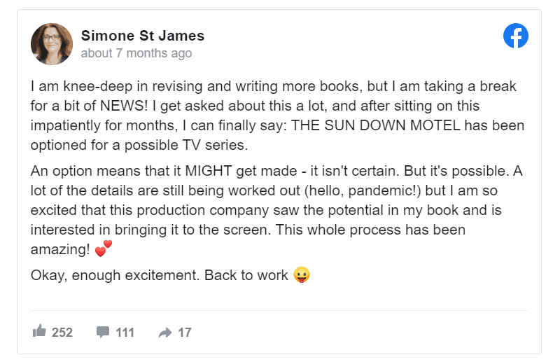 sun down motel optioned tv series